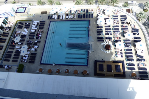 The view of WET® pool area from our balcony