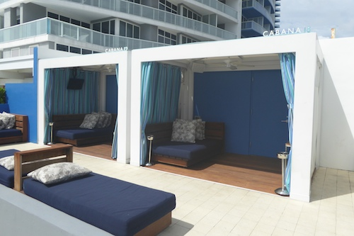 Loungers and Cabanas at WET®