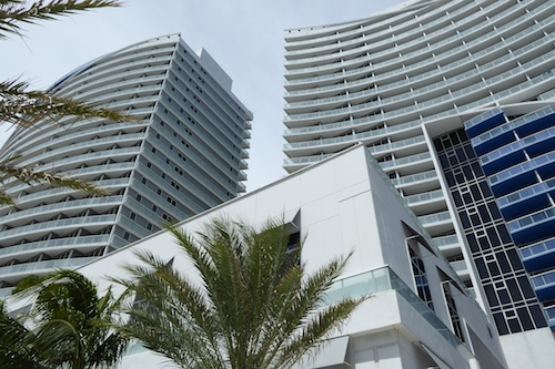 The W is one of the largest hotels on the beach