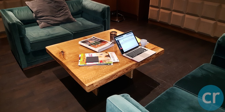 The Salon coffee table makes a great workstation
