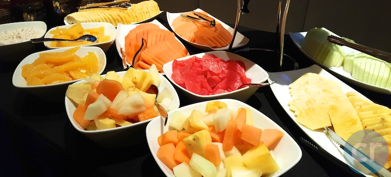 Fruit on breakfast buffet