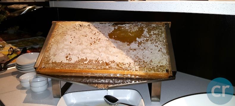 Honeycomb on breakfast buffet
