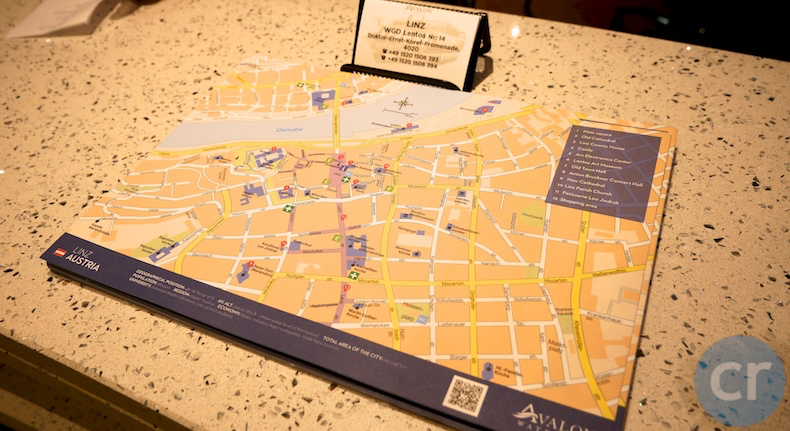 City maps available at the Reception desk