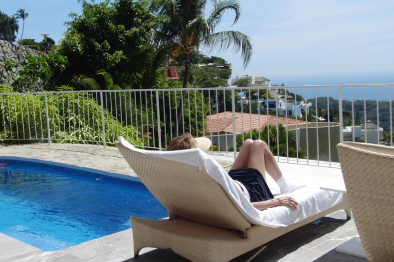 Enjoying the private cabana pool