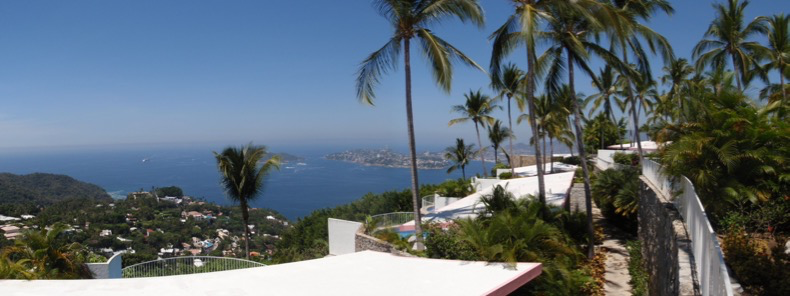 Panoramic view from our private terrace