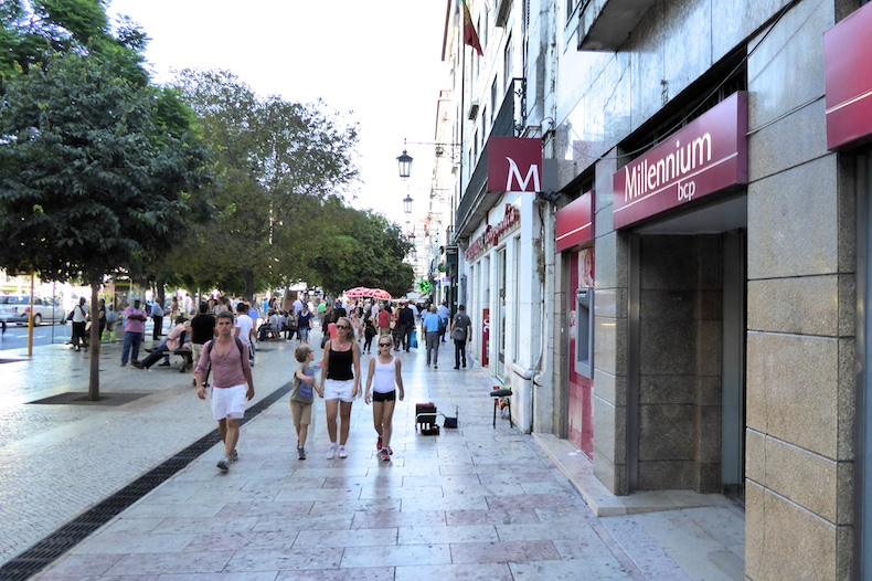 Large walkways filled with shops and cafes just steps from Altis Avenida