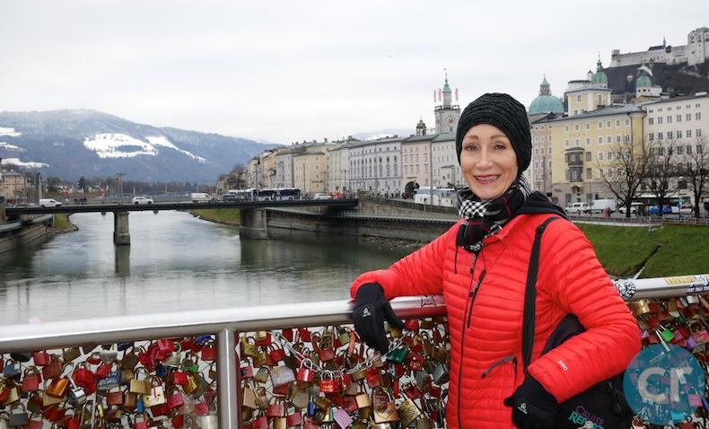 Rickee on the Love Locks Bridge in Salzburg