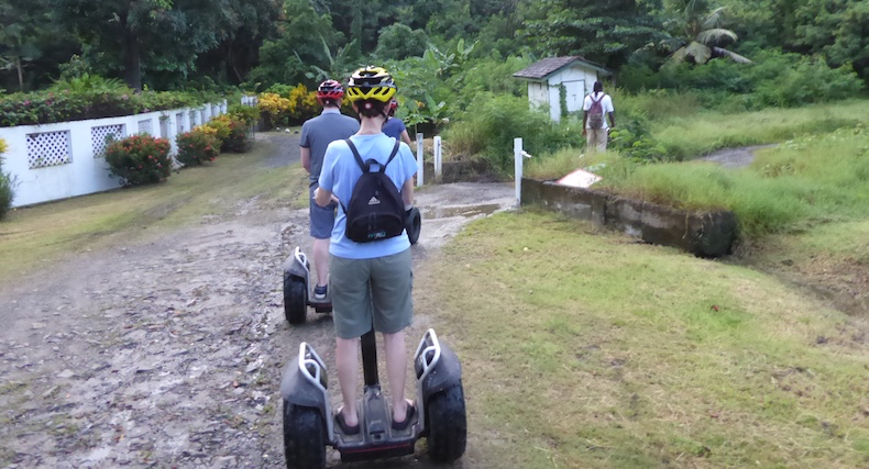 The Segways perform admirably on rough terrain
