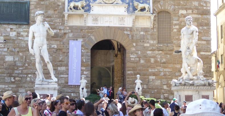 Statue of David (replica) in Piazza Vecchio