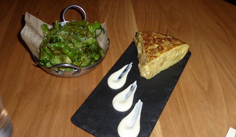 Pimientos de Padrón and Tortilla Española