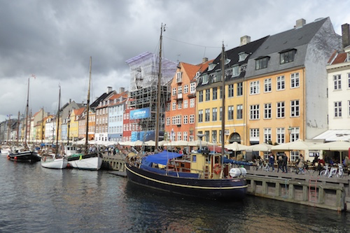 The scenic and historic Nyhavn district in Copenhagen