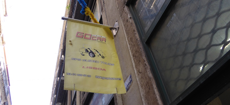 Look for this sign to find Lisbon by Segway tours