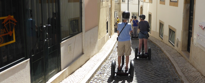Narrow, cobblestone streets are no match for the Segway