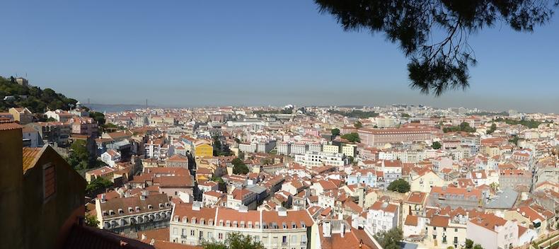Amazing panoramic view of Lisbon