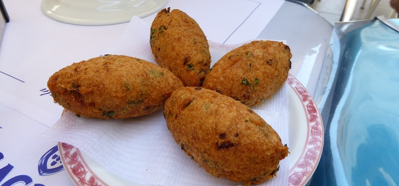 Codfish cakes are a Portugese specialty