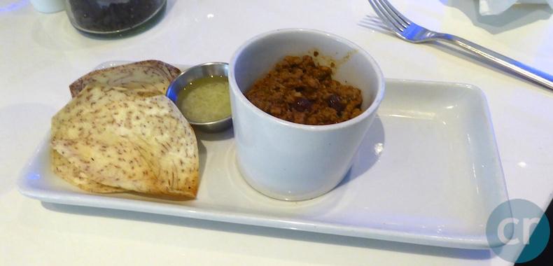 Picadillo served with Melanga and Mojo
