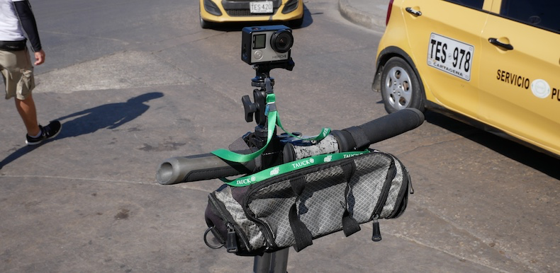 My GoPro clamped to the Segway handlebar