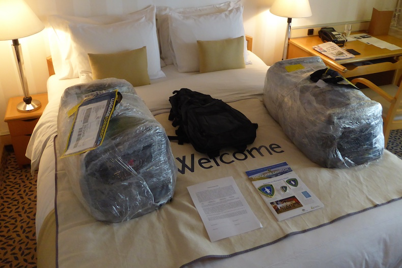 Our luggage was waiting for us in our suite when we arrived on board