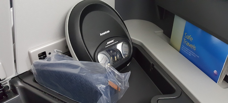 Amenity kit and Bose Noise Cancelling Headphones