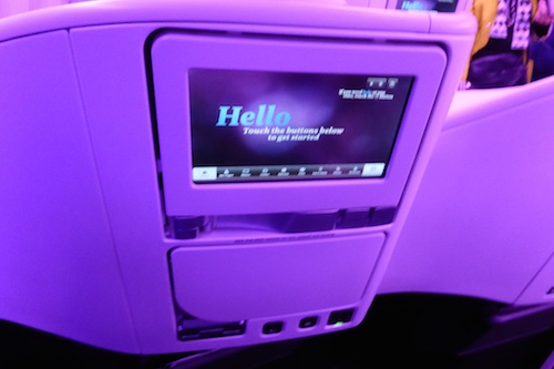 Spaceseat entertainment system is one of the best in the air