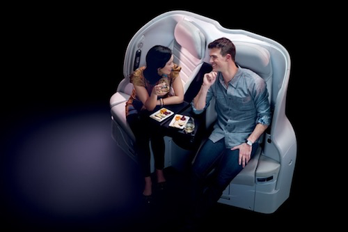 Center section Spaceseats for couples traveling together