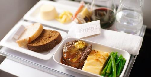 Premium Economy chef-designed menu offerings