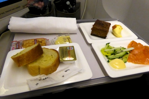 Premium Economy Meal service on 777-200 was excellent