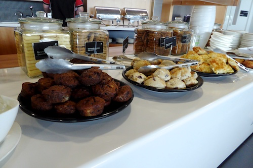 Substantial and delicious buffet in Koru Lounge, Christchurch