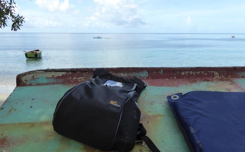 Solar Sack on the beach in Grenada