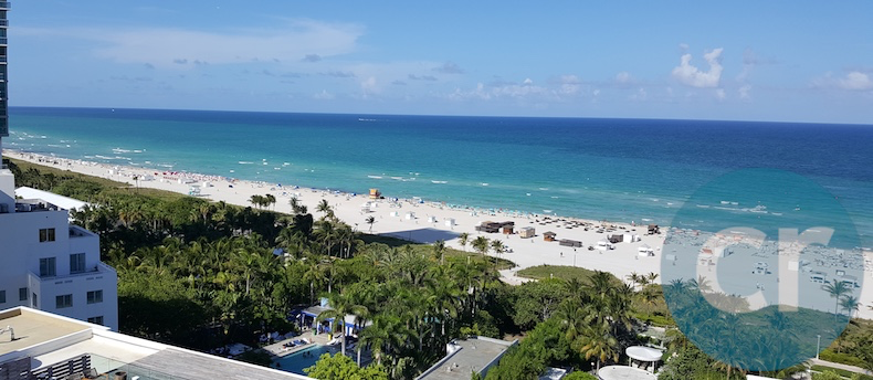 The view of Miami Beach from our Ocean View King Bed room