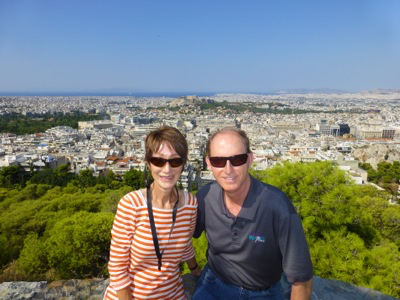 A great view of Athens in the background