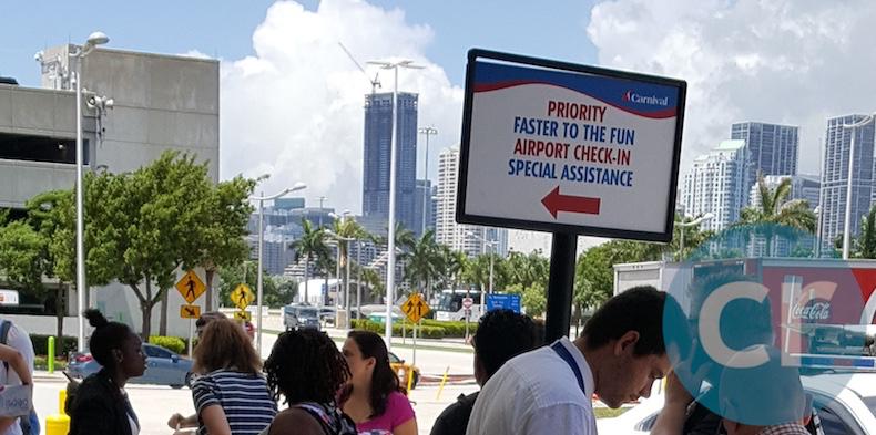 Priority check-in Miami | CruiseReport