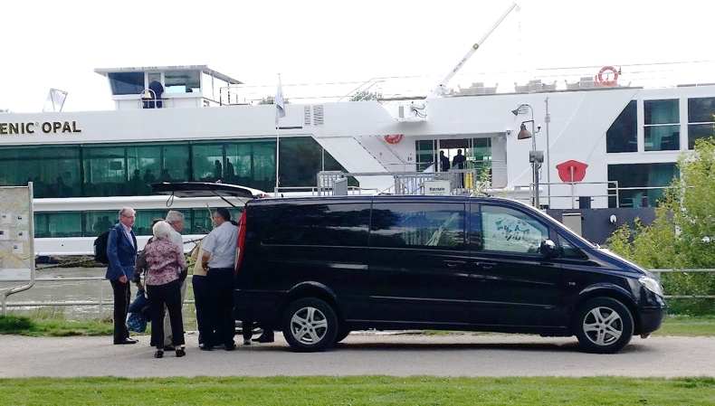A minivan transfer to your river cruise boat is the only way to go!