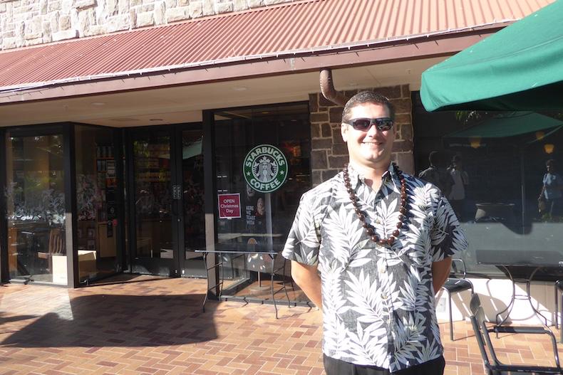 Igor drops us off at Starbucks