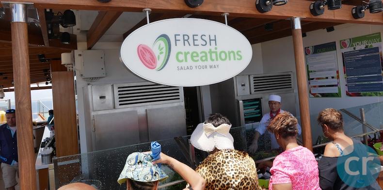 Fresh Creations salad. bar | CruiseReport