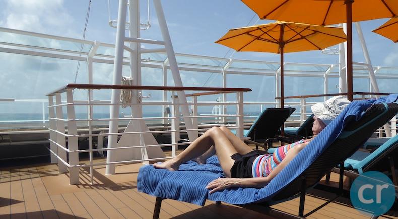 Rickee relaxes at Serenity