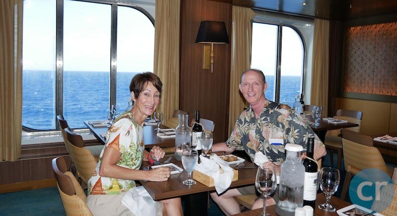 Enjoying dinner in Horizons