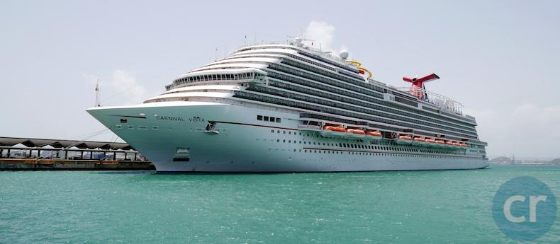 Carnival Vista docked in San Juan, Puerto Rico