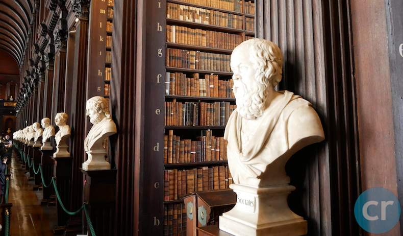 Busts in Long Room Trinity College