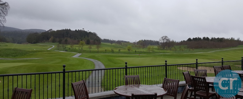 View of the championship golf course at Powerscourt