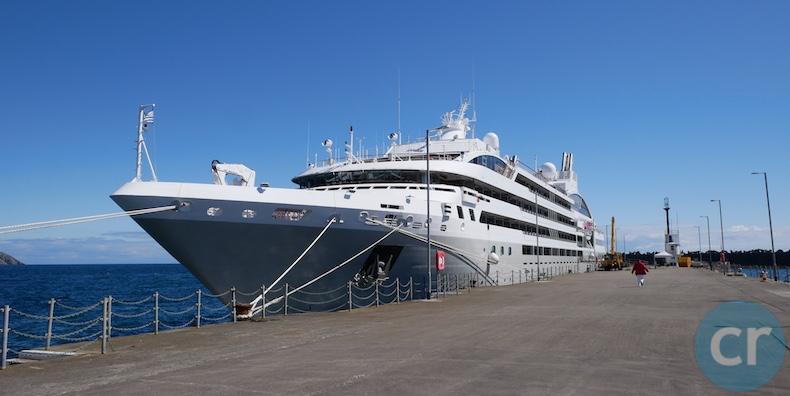 Le Soléal docked in Douglas, Isle of Man