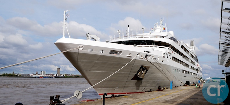 Le Soléal docked in Liverpool (on the River Mersey)