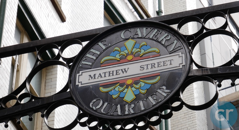 Mathew Street and Cavern Quarter in Liverpool