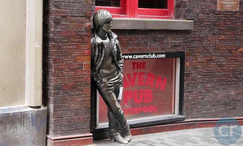 John Lennon statue in front of Cavern Club in Liverpool