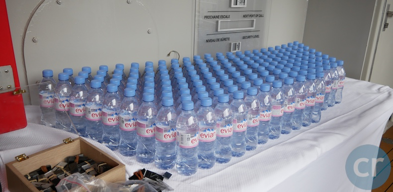 bottled water on Le Soléal to take on excursions.png