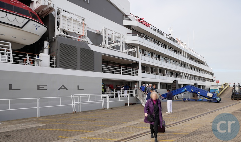 Guests disembark in Portsmouth
