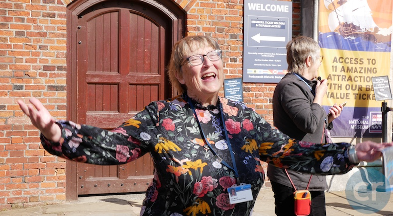 Jean, our local tour guide in Portsmouth