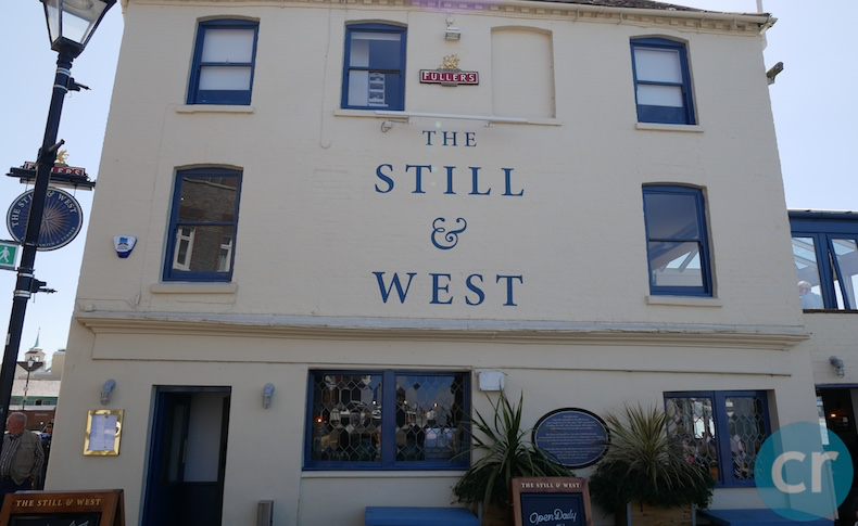 Still & West pub located on Portsmouth, England waterfront