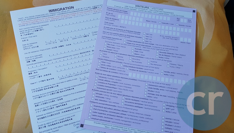Immigration and Customs forms