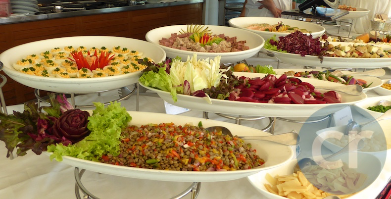Variety of salads offered at Le Grill for lunch